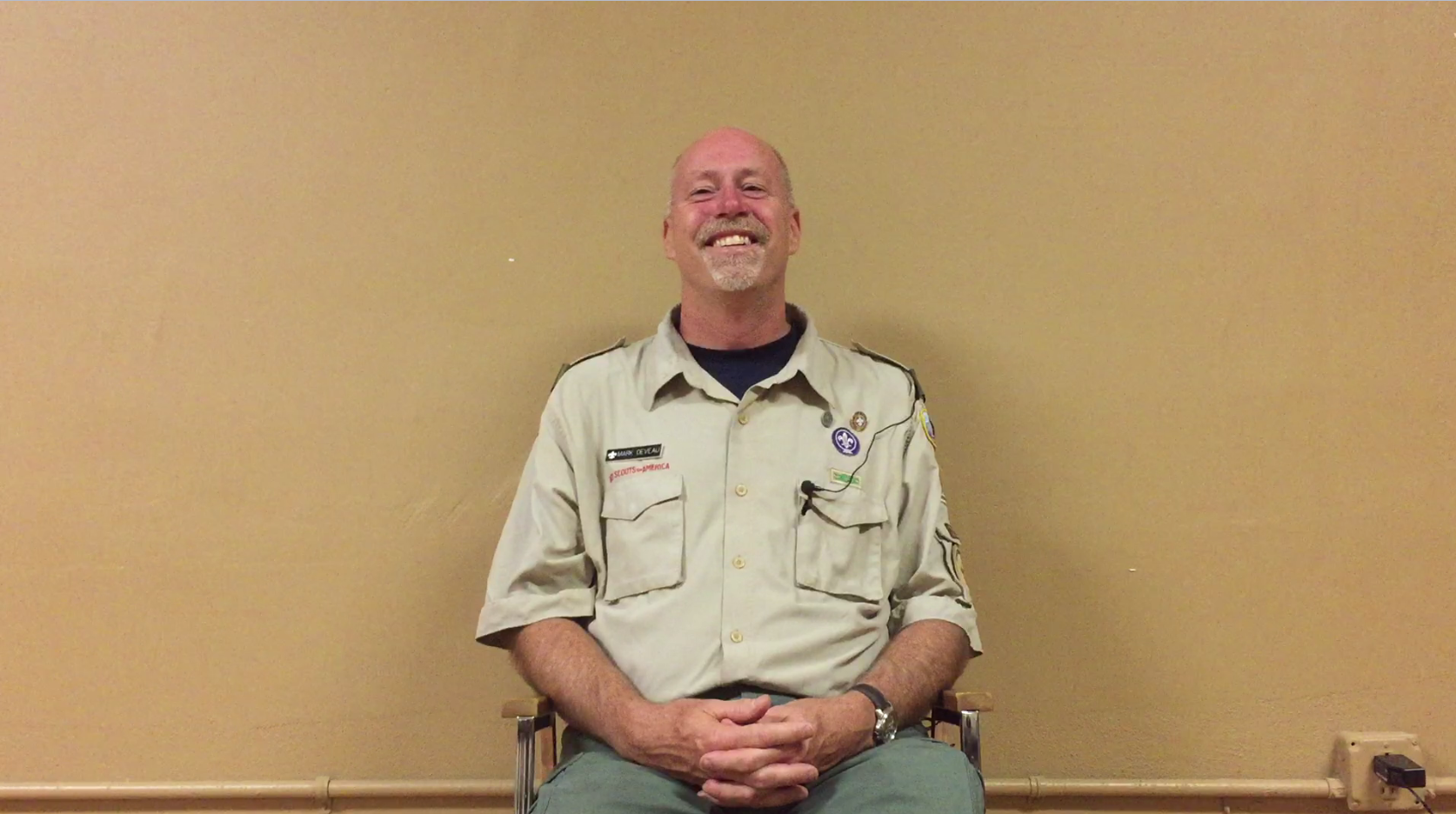 Scoutmaster Mark Deveau